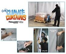 INSULATED THERMAL VALANCE & FLOOR SWEEP FOR CLIMATE CURTAINS